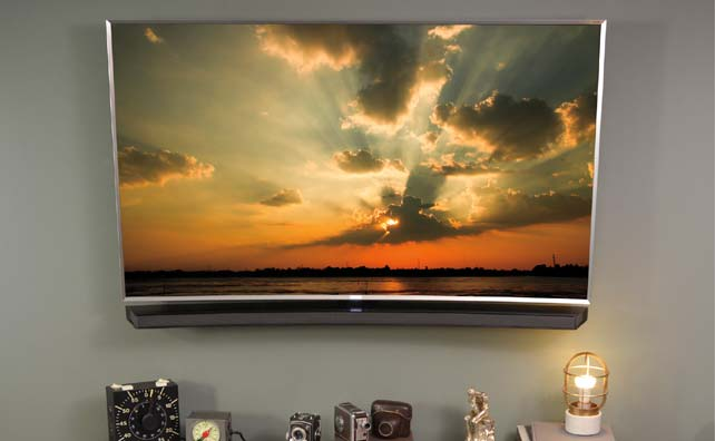 Wall Mounted Curved 4K TV