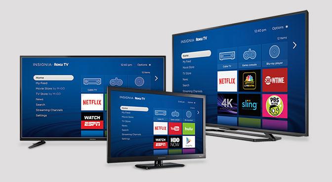 Insignia Roku 4kTVs.