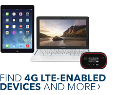 Find 4G LTE-enabled devices and mor