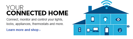Your connected home. Connect, monitor and control your lights, locks, appliances, thermostats and more. Learn more and shop.