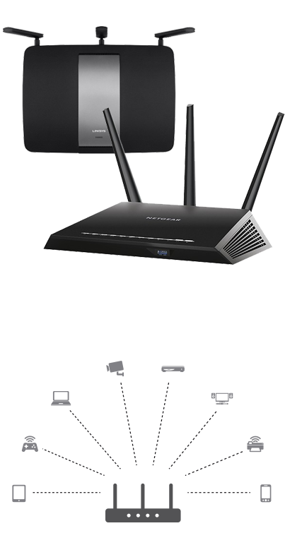 Networking buying guide learn about home networking connectivity room and another family member playing online games in another at the same time you might need a high performance router to prevent lag and buffering greentooth Gallery
