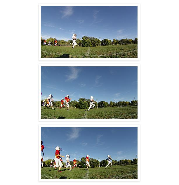 Images of child hitting baseball