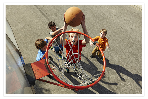 Photo from a basketball rim