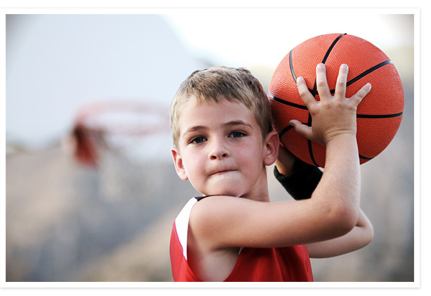 Photos of child playing sports
