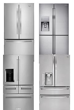 Top-freezer Bottom-freezer