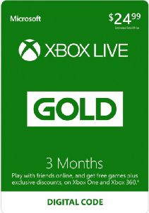 Free 3-Month Live Gold Subscription – Xbox One [Digital Download Add-On]