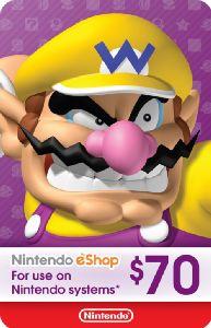 eCash – Nintendo eShop Gift Card $70 – Nintendo eShop Gift Card [Digital Download Add-On]