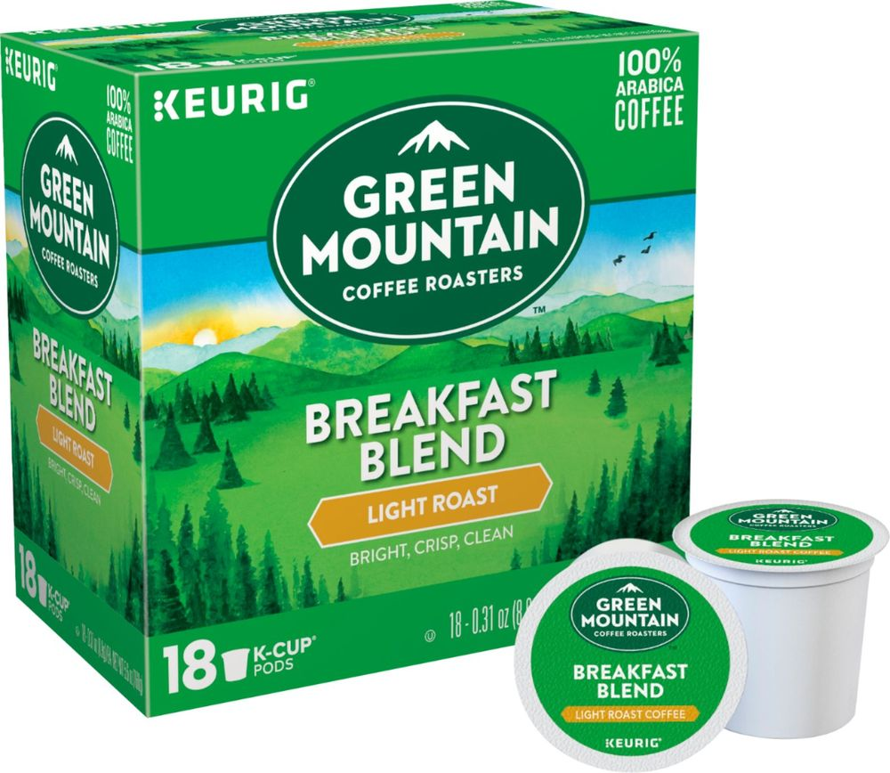Green Mountain Coffee - Breakfast Blend K-Cup Pods (18-Pack)