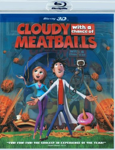Cloudy with a Chance of Meatballs [3D] [Blu-ray] [Blu-ray/Blu-ray 3D] [2009] 1019005