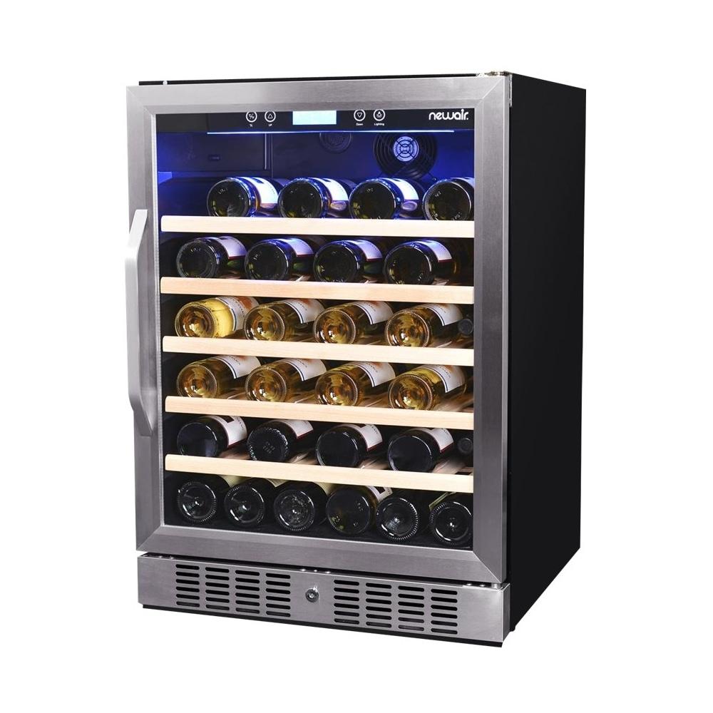NewAir 52-Bottle Wine Cooler Stainless Steel/Black AWR-520SB