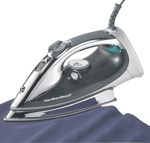 Hamilton Beach 14977 Professional Steam Iron Gray/Silver/White