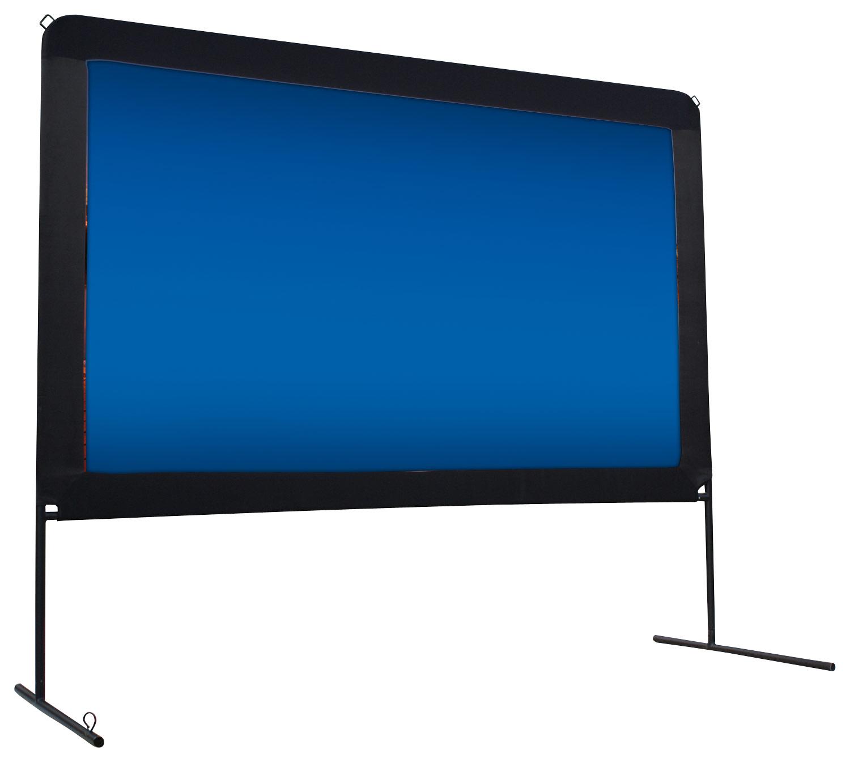 "Elite Screens - YardMaster 200"" Portable Outdoor Projector Screen - Black largeFrontImage"