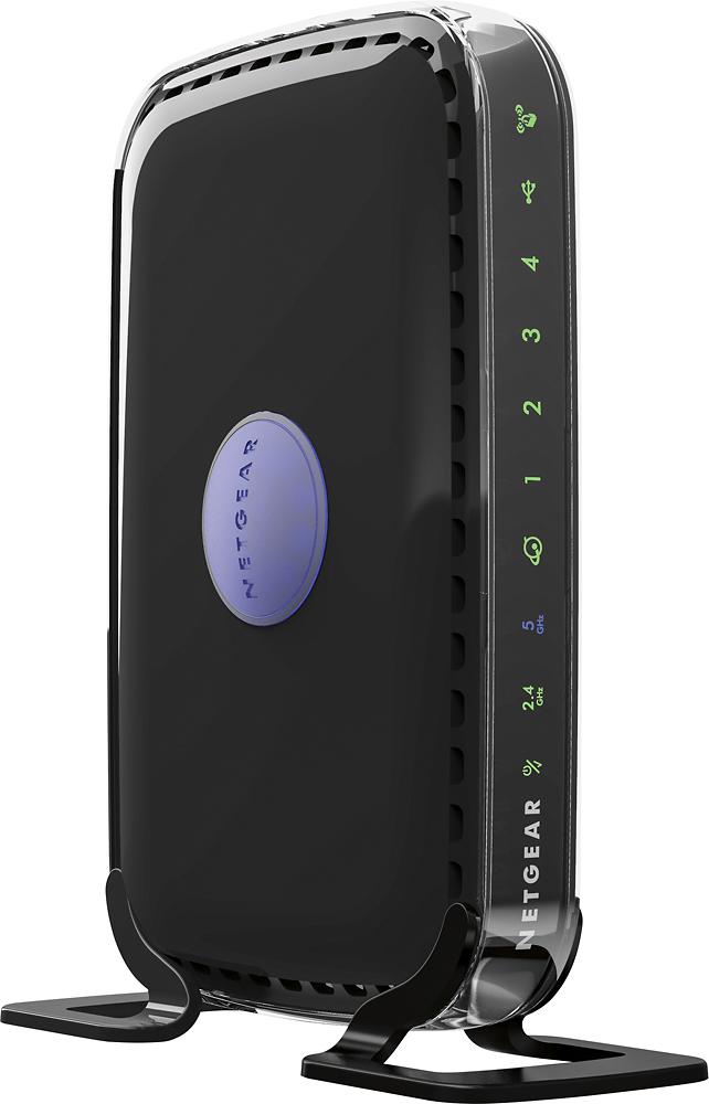 NETGEAR - RangeMax N600 Dual-Band Wi-Fi Router - Black