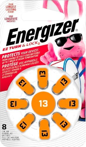 Energizer - 13 Alkaline Zinc-Air Batteries for Most Hearing Aids (8-Pack)