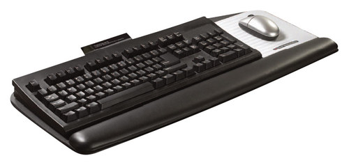 Image of 3M - Adjustable Keyboard Tray - Black