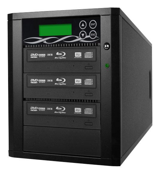 Spartan - 3-Target Copy Blu-ray/DVD/CD Duplicator with 500GB Hard Drive - Black