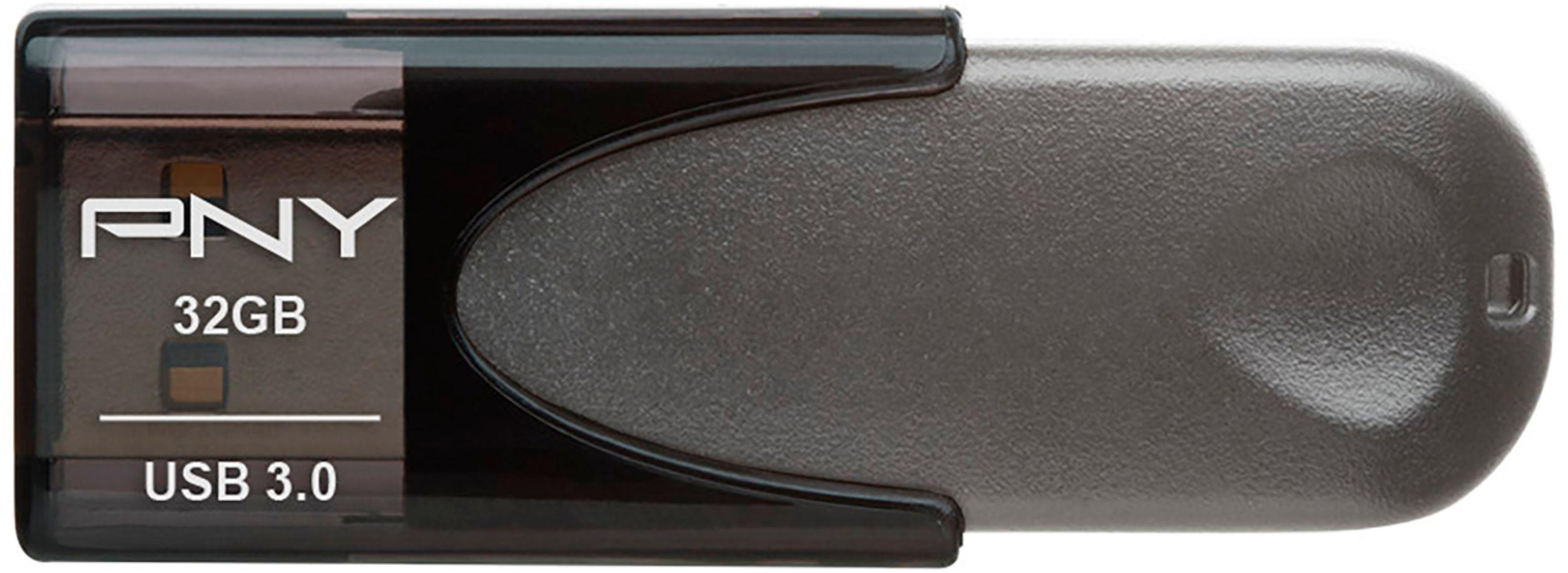 PNY 32GB Turbo USB 3.0 Flash Drive For USB Devices - Black