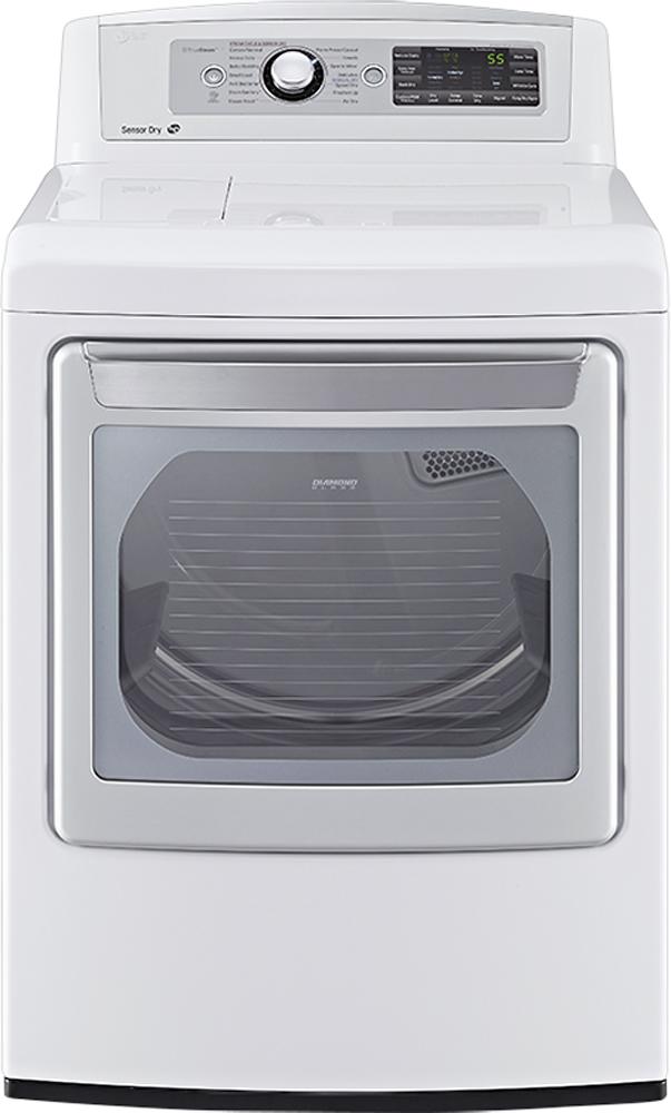 LG 7.3 Cu. Ft. 14-Cycle Steam Gas Dryer White DLGX5681W