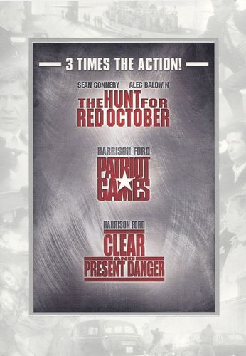 The Hunt for Red October/Patriot Games/Clear and Present Danger [3 Discs] [DVD] 15470955