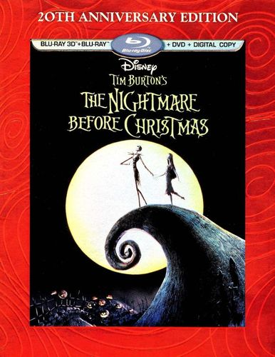 Tim Burton's The Nightmare Before Christmas [20th Anniversary Edition] [3D] [Blu-ray] [Blu-ray/Blu-ray 3D] [1993] 1588111