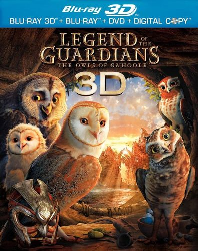 Legend of the Guardians: The Owls of Ga'Hoole [3 Discs] [Includes Digital Copy] [3D] [Blu-ray/DVD] [Blu-ray/Blu-ray 3D/DVD] [2010] 1608128