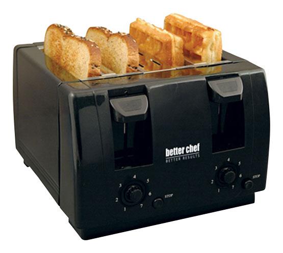 Better Chef 4-Slice Toaster Black 91580213M