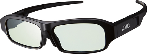 JVC - Rechargeable Active Shutter RF 3D Glasses - Black 1626151