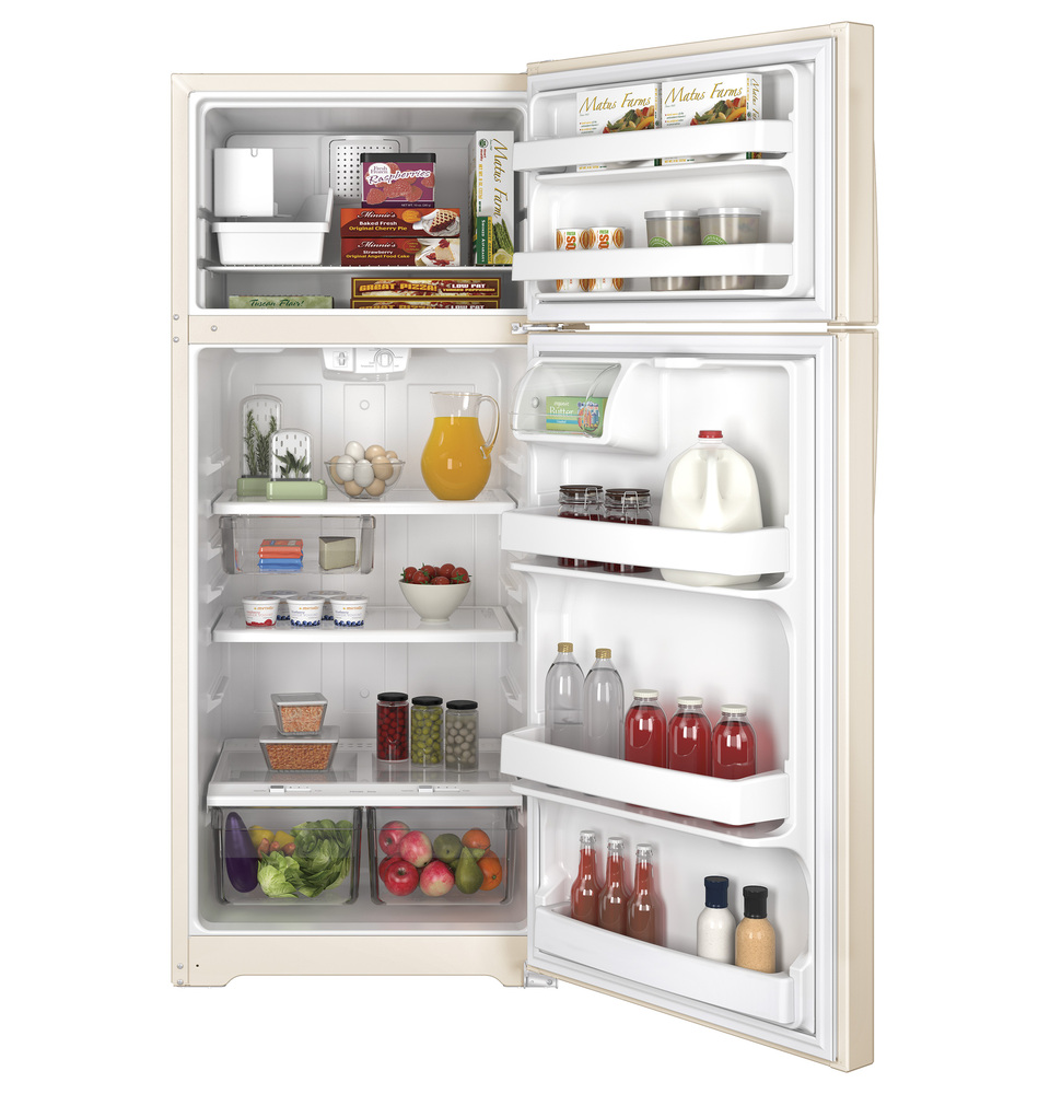 GE GIE18GTHCC 17.5 Cu. Ft. Frost-Free Top-Freezer Refrigerator Bisque