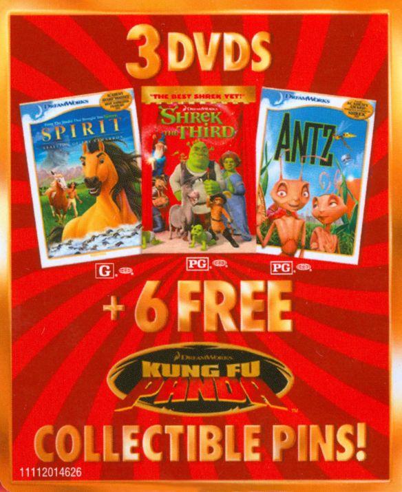 Shrek the Third/Antz/Spirit: Stallion of the Cimarron [With 6 Kung Fu Panda Pins] [3 Discs] [DVD] 16956448