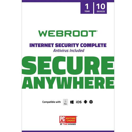 Webroot Internet Security Complete + Antivirus 2018 (5-Devices) (1-Year Subscription) - AndroidMacWindowsiOS