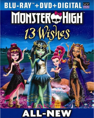 Monster High: 13 Wishes [2 Discs] [Includes Digital Copy] [UltraViolet] [Blu-ray/DVD] 1749631