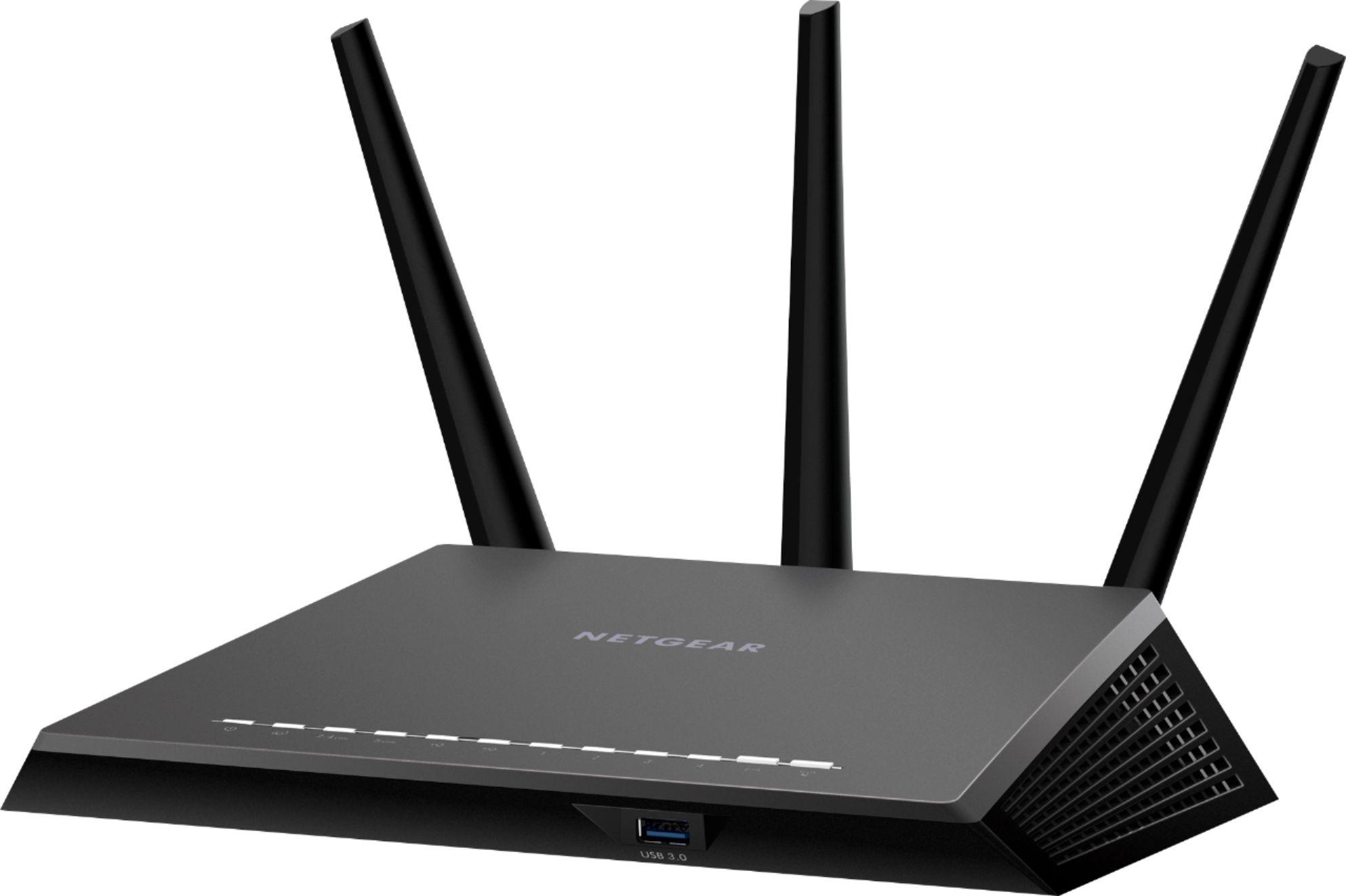 NETGEAR - Nighthawk AC1900 Dual-Band Wi-Fi Router - Black