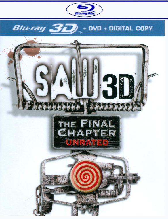 Saw: The Final Chapter [2 Discs] [3D] [Blu-ray/DVD] [Blu-ray/Blu-ray 3D/DVD] [2010] 1767669