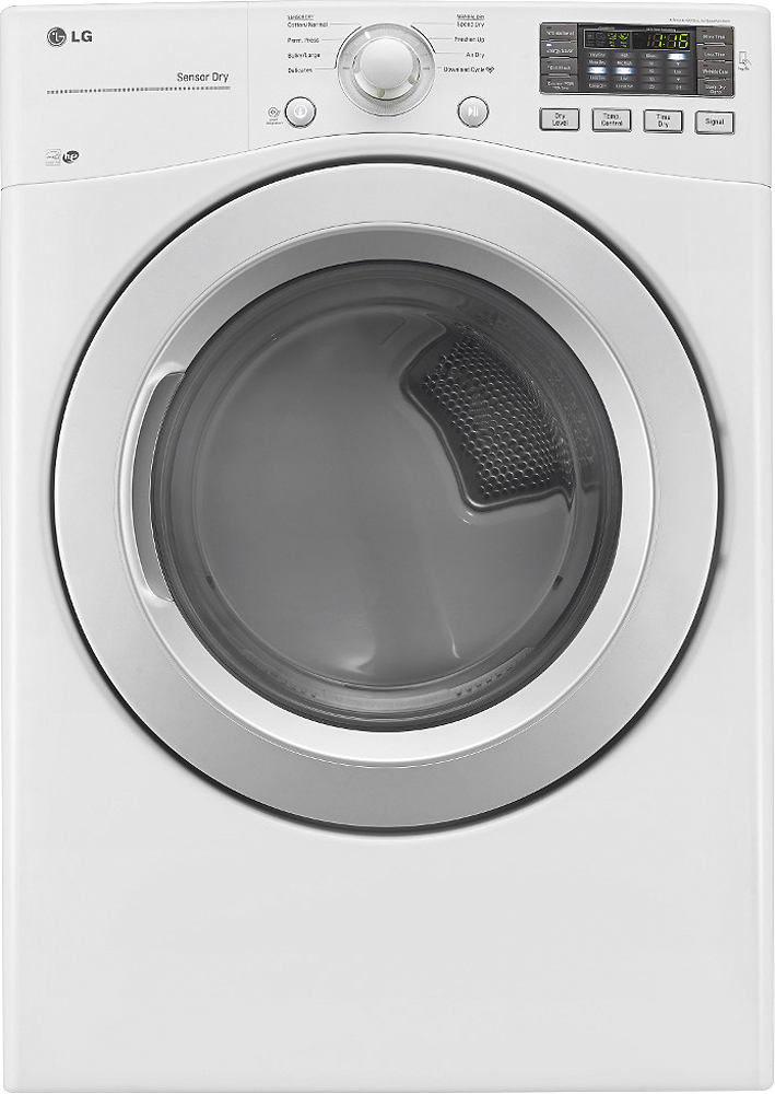 LG 7.4 Cu. Ft. 8-Cycle Electric Dryer White DLE3170W