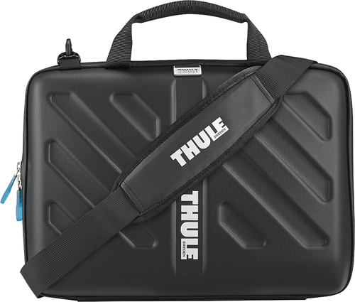 """Thule - Gauntlet Attaché Case for 13"""" Apple® MacBook® and MacBook Pro - Black"""