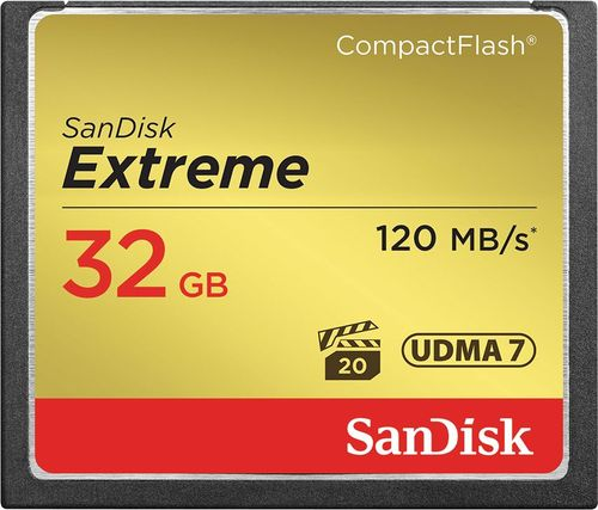 SanDisk - Extreme 32GB CompactFlash (CF) Memory Card