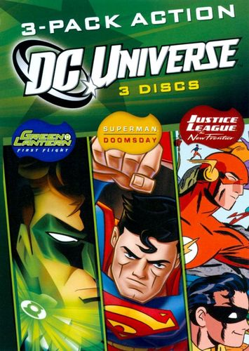 DC Universe: 3-Pack Action [3 Discs] [DVD] 19234315