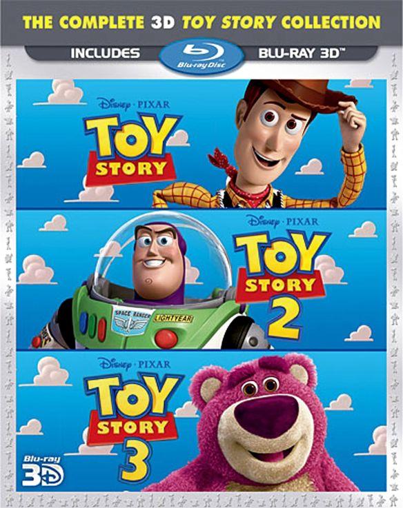 Toy Story 3D Trilogy [3 Discs] [3D] [Blu-ray] [Blu-ray/Blu-ray 3D] 19519959