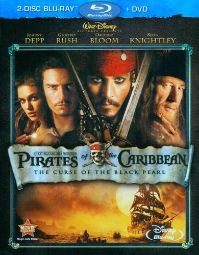 Pirates of the Caribbean: The Curse of Black Pearl [3 Discs] [Blu-ray/DVD] [2003] 1980655