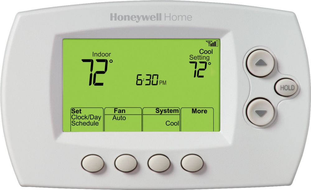 Honeywell - 7-Day Programmable Thermostat with Wi-Fi Capability - White