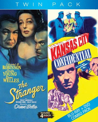 Kansas City Confidential/The Stranger [4 Discs] [Blu-ray/DVD] 20152549