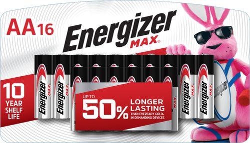 Energizer - MAX AA Batteries (16-Pack) Compatible with select electronic devices; AA size; 16-pack
