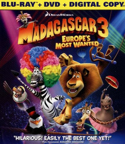 Madagascar 3: Europe's Most Wanted [2 Discs] [Includes Digital Copy] [UltraViolet] [Blu-ray] [2012] 21395275