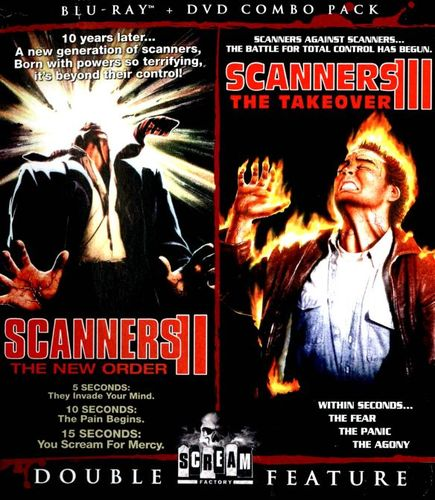 Scanners II: The New Order/Scanners III: The Takeover [2 Discs] [DVD/Blu-ray] [Blu-ray/DVD] 21662469