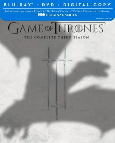 Game of Thrones: The Complete Third Season [7 Discs] [Includes Digital Copy] [Blu-ray/DVD] 2181353