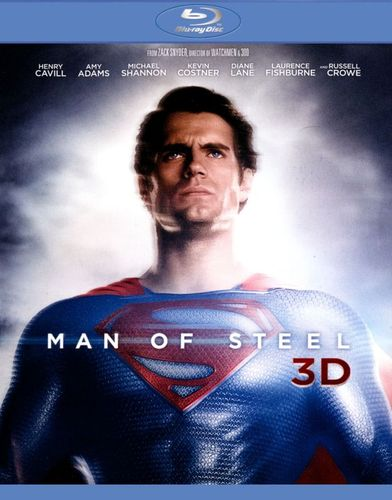 Man of Steel 3D [4 Discs] [Includes Digital Copy] [UltraViolet] [3D] [Blu-ray/DVD] [Blu-ray/Blu-ray 3D/DVD] [2013] 2241011
