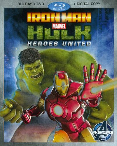 Iron Man & Hulk: Heroes United [2 Discs] [Includes Digital Copy] [Blu-ray/DVD] [2013] 2431146