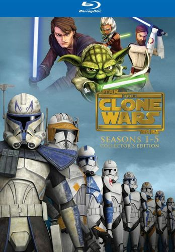 Star Wars: The Clone Wars - The Complete Seasons 1-5 [Collector's Edition] [15 Discs] [Blu-ray] 2509008