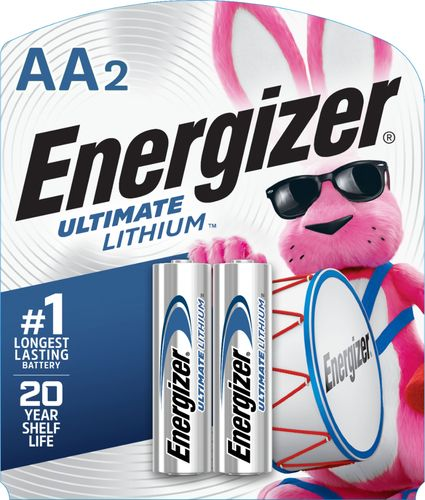 Energizer - Ultimate Lithium AA Batteries (2-Pack) 2-pack, lithium AA photo electronic battery