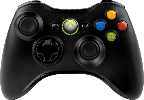 Microsoft - Xbox 360 Wireless Controller - Black